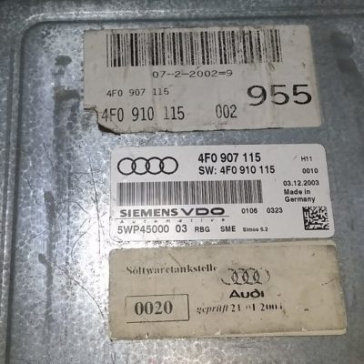 ECU Calculator motor Audi A6  4F0907115, 5WP45000