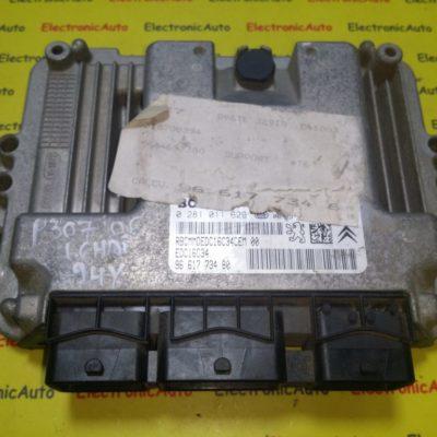 ECU Calculator motor Citroen C4, Peugeot 307 1.6HDI 0281011629, 9661773480