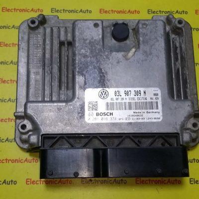 ECU Calculator motor VW Passat 2.0TDI 0281016374, 03L907309N