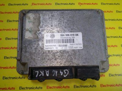 ECU Calculator motor VW Golf4 1.6 06A906019AK, 5WP4371