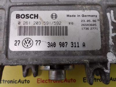 ECU Calculator Motor Vw Golf 1.8, 3A0907311A, 0261203591/592
