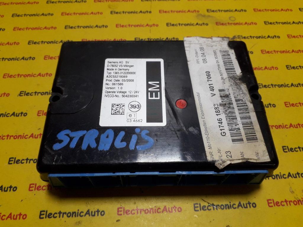 Calculator control Iveco Stralis 504230341