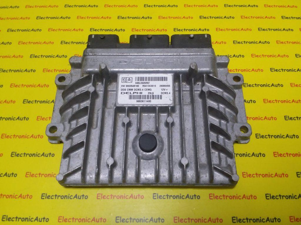 ECU Calculator Motor Citroen C5 2.0 HDI, 9663548180, R0413C001E, 28080465