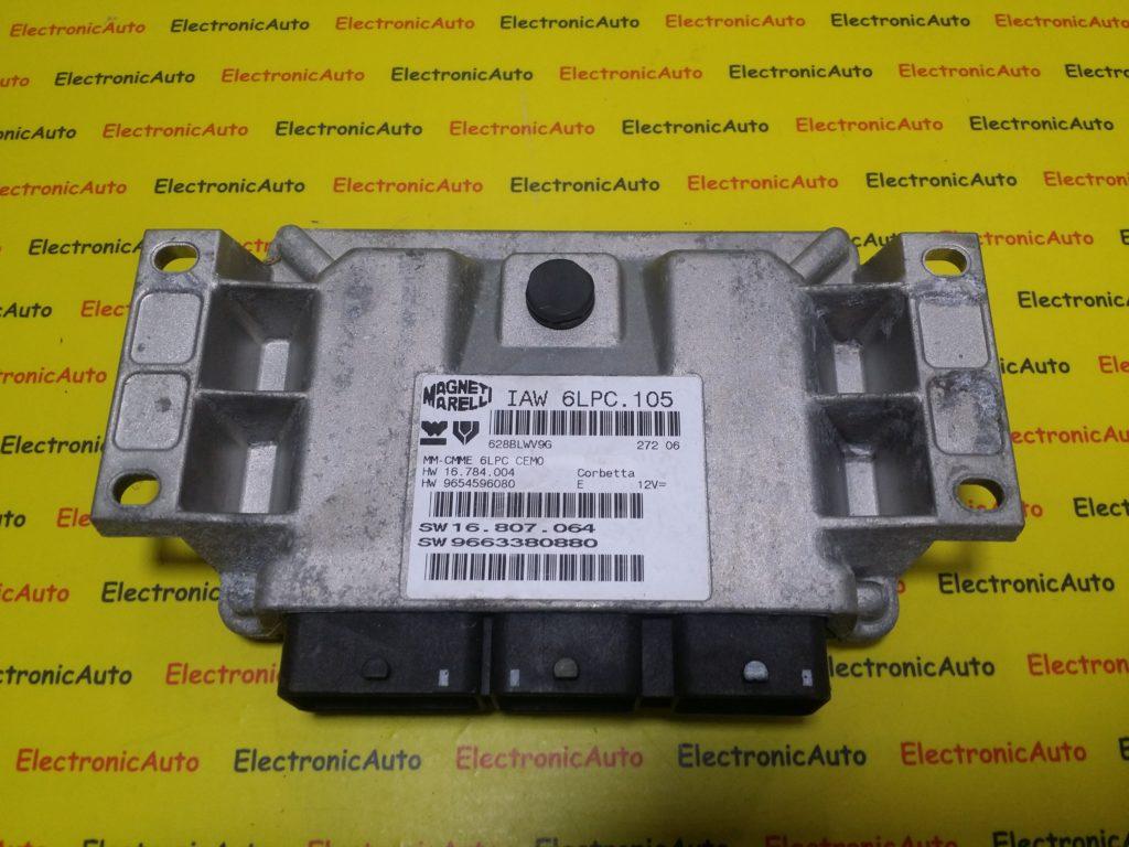 ECU Calculator Motor Peugeot 207 1.4, IAW6LPC105, 16807064, 9663380880, 9654596080