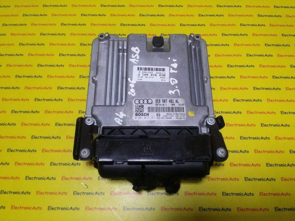 ECU Calculator Motor Audi A4 3.0 TDI, 8E0907401AL, 8E0910401P, 0281013191