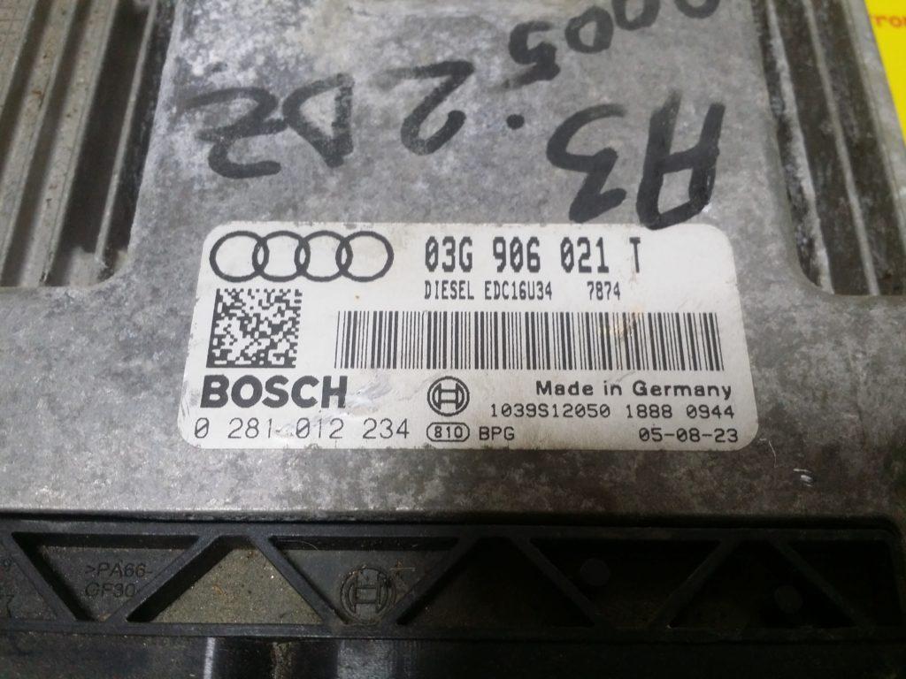 ECU Calculator Motor Audi A3 2.0 TDI, 0281012234, 03G906021T, EDC16U34