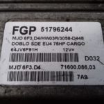 ECU Calculator Motor Fiat Doblo 1.3 JTD, 51796244, 7160008603