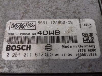 ECU Calculator Motor Ford Fiesta 1.6 TDCI, 5S6112A650GB, 0281011612