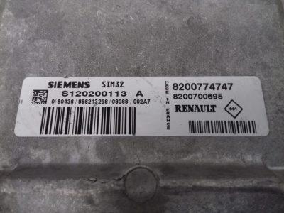 ECU Calculator Motor Renault Twingo II 1.2, S120200113A, 8200774747, 8200700695