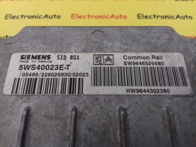 ECU Calculator Motor Citroen Xsara 2.0 HDI, 5WS40023ET, SID801