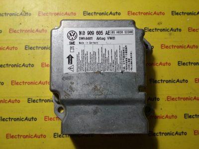 Calculator airbag Vw Golf 5 1K0909605AE, 5WK44011, 1K0 909 605AE