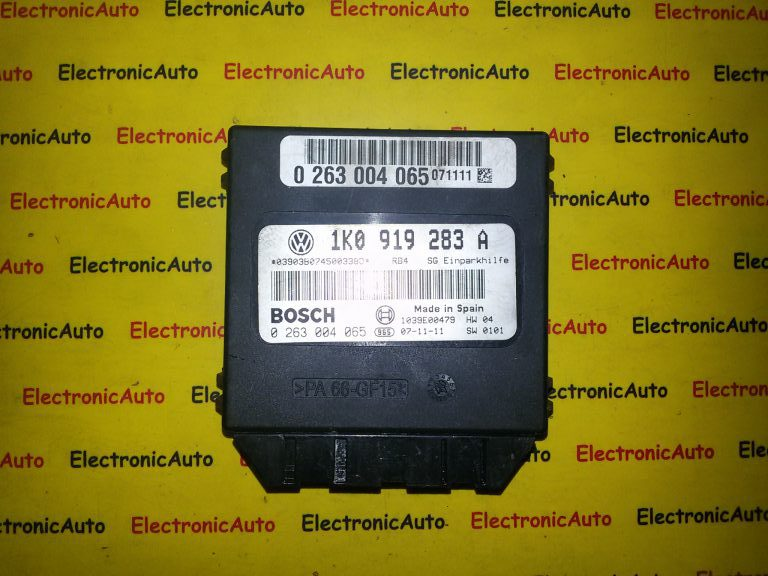 Calculator modul senzori parcare VW Golf 5 cod 1K0919283A