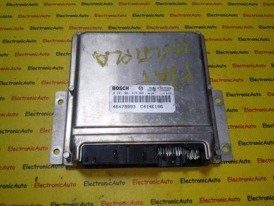ECU Calculator motor Fiat Multipla 1.9JTD 0281001879, 46479993