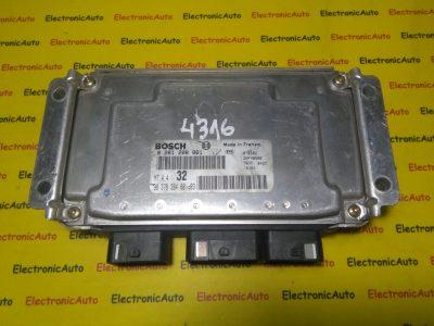 ECU Calculator motor Peugeot 306 1.6 0261206861, 9637839480